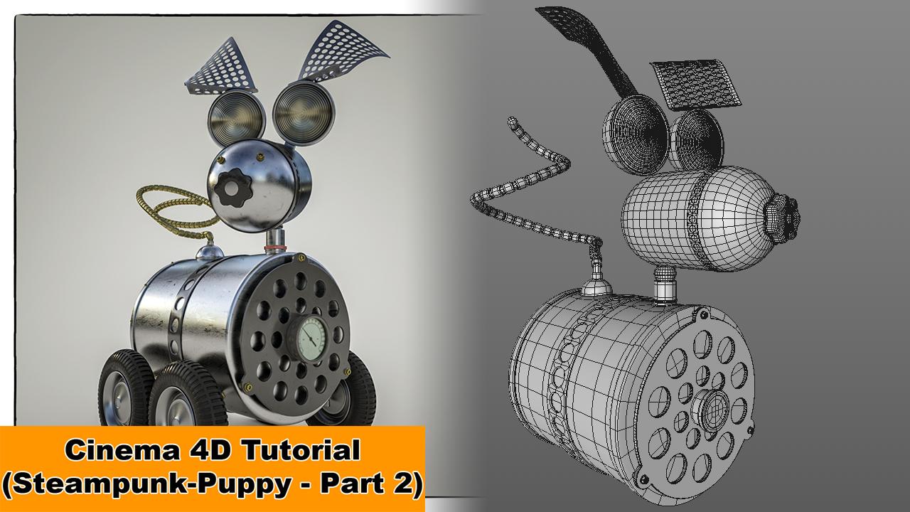 Steampunk Puppy - Part 2 (Cinema 4D - Tutorial) by NIKOMEDIA