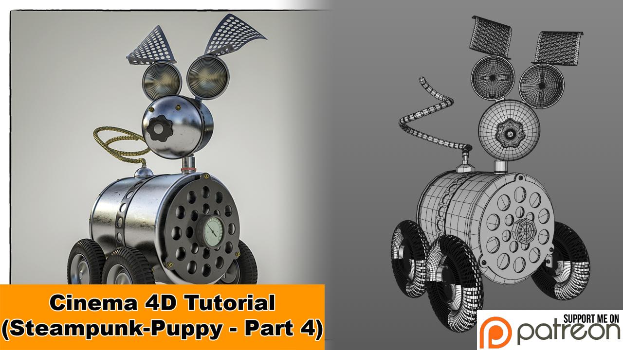 Steampunk Puppy - Part 4 (Cinema 4D - Tutorial) by NIKOMEDIA