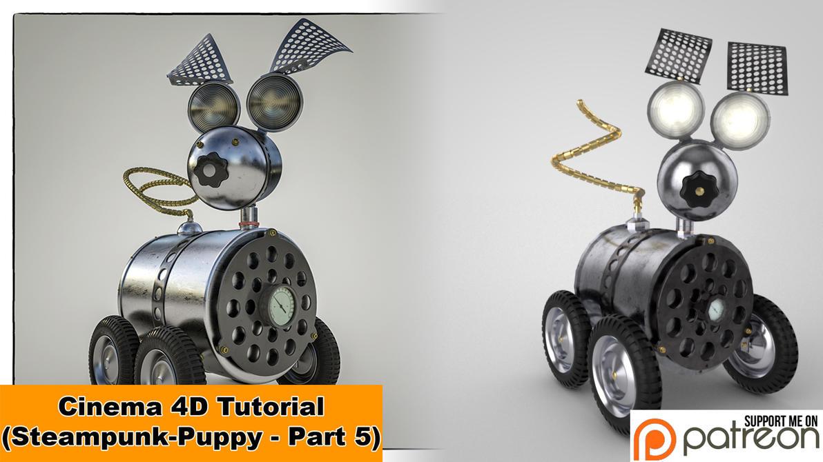Steampunk Puppy - Part 5 (Cinema 4D - Tutorial) by NIKOMEDIA