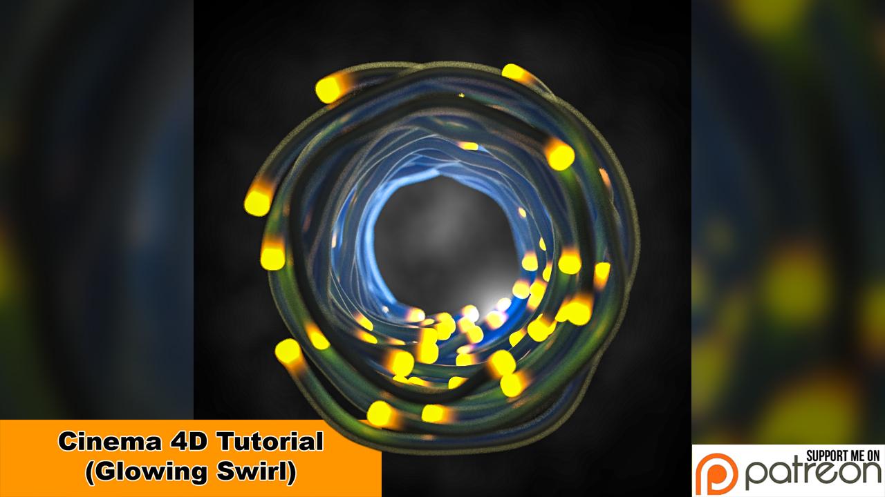 Glowing Swirl (Cinema 4D - Tutorial) by NIKOMEDIA