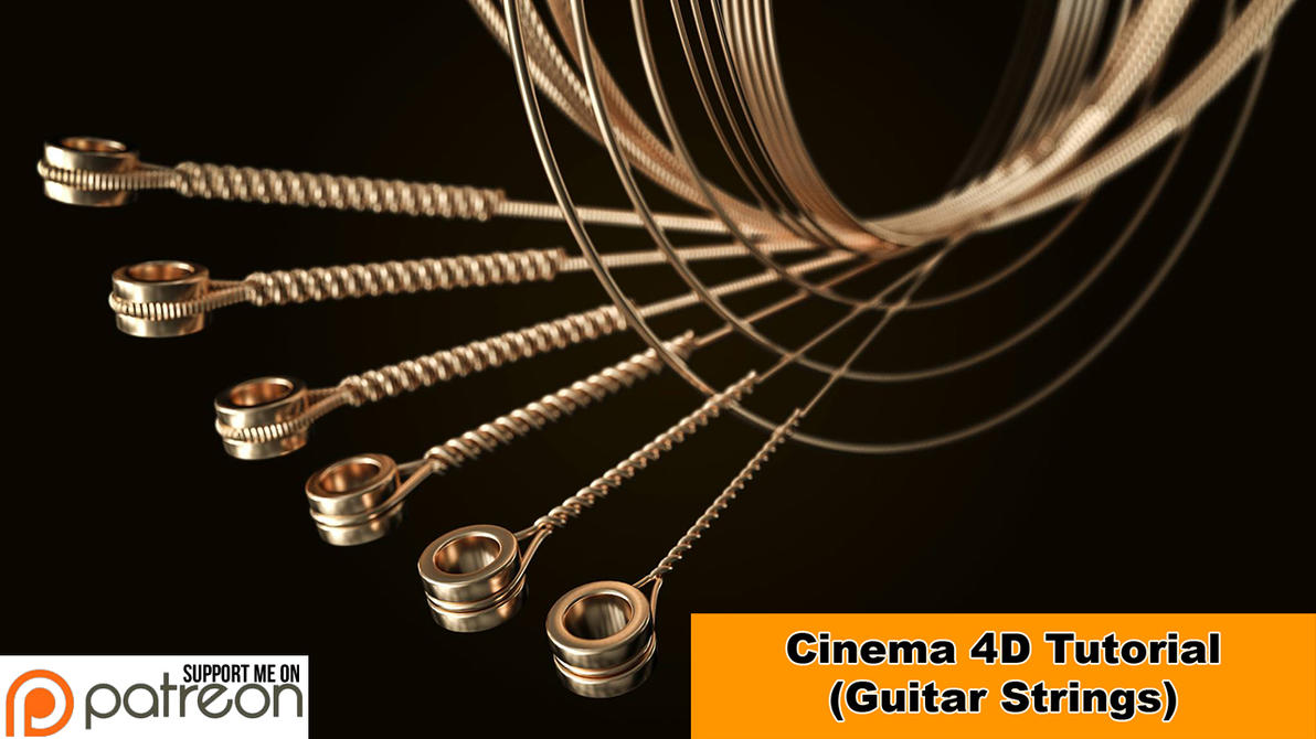 Guitar Strings (Cinema 4D - Tutorial) by NIKOMEDIA