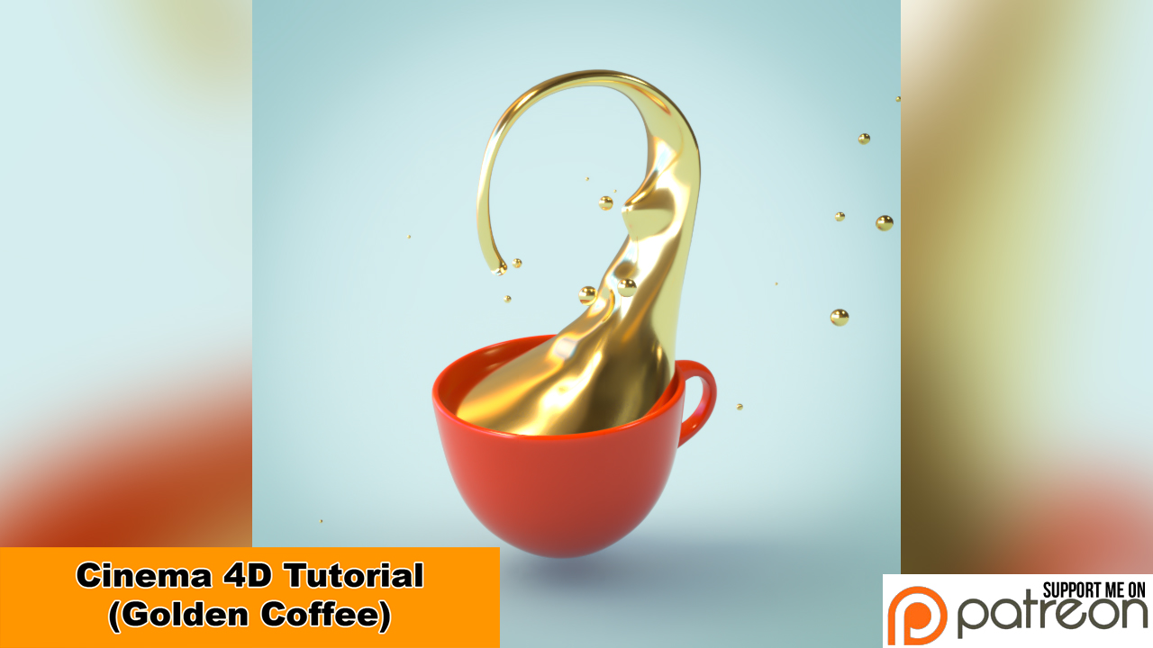 Golden Coffee (Cinema 4D - Tutorial) by NIKOMEDIA