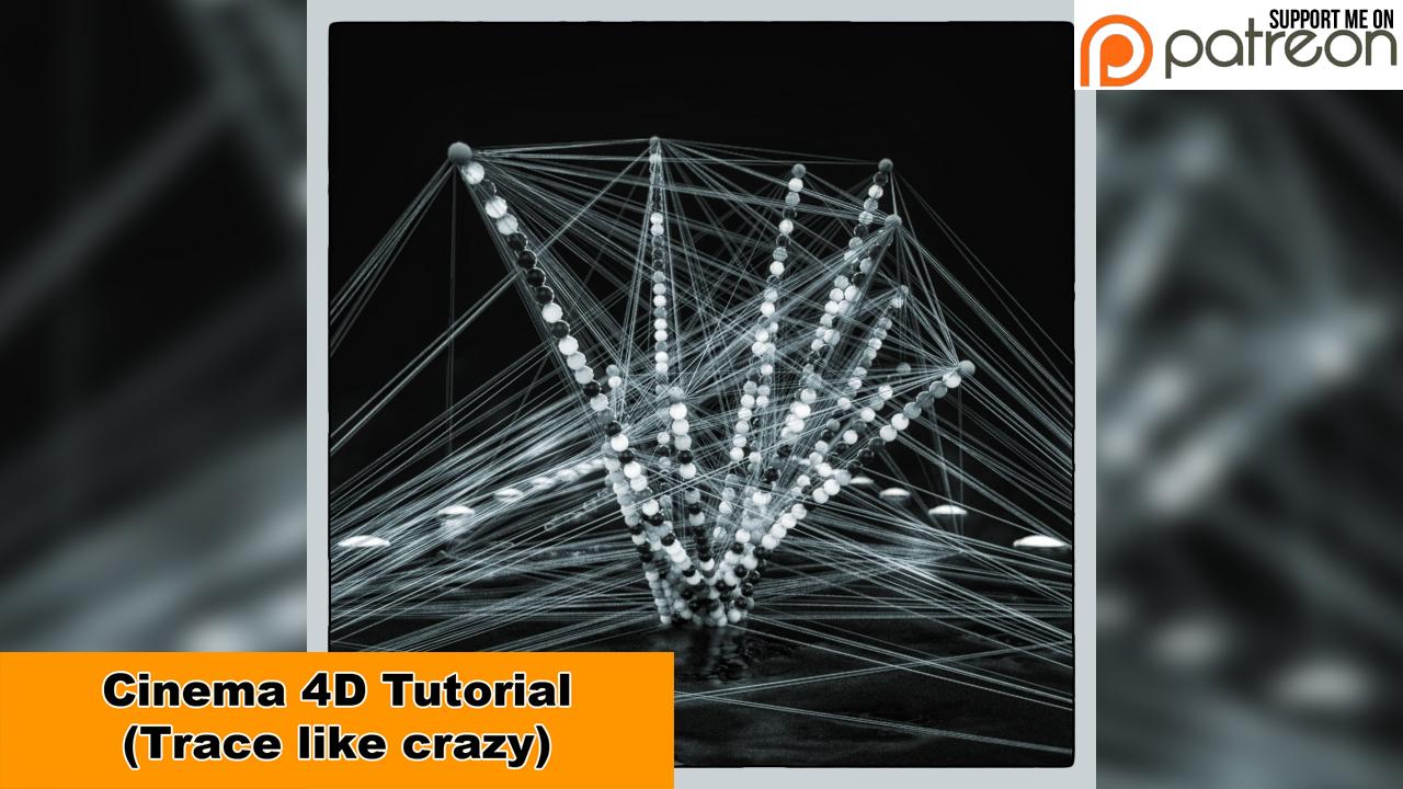 Trace like crazy (Cinema 4D - Tutorial) by NIKOMEDIA