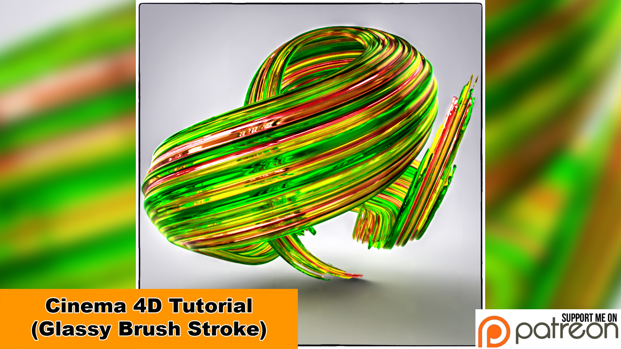 Glassy Brush Stroke (Cinema 4D Tutorial) by NIKOMEDIA