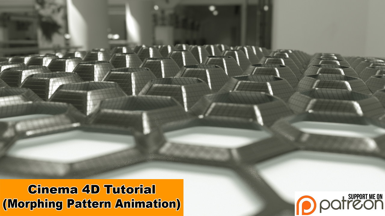 Morphing Pattern Animation (Cinema 4D - Tutorial) by NIKOMEDIA