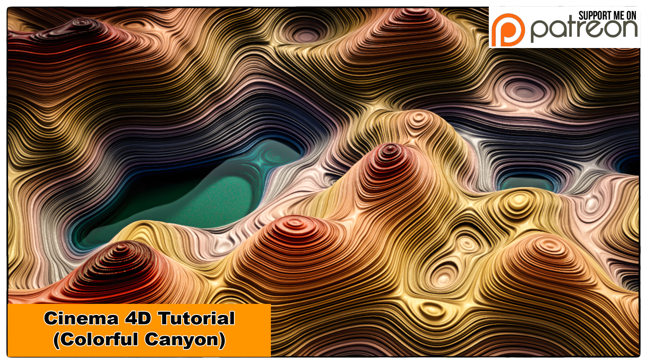 Colorful Canyon (Cinema 4D Tutorial) by NIKOMEDIA