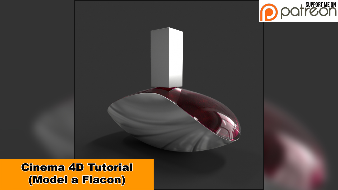 Model a Flacon (Cinema 4D Tutorial) by NIKOMEDIA