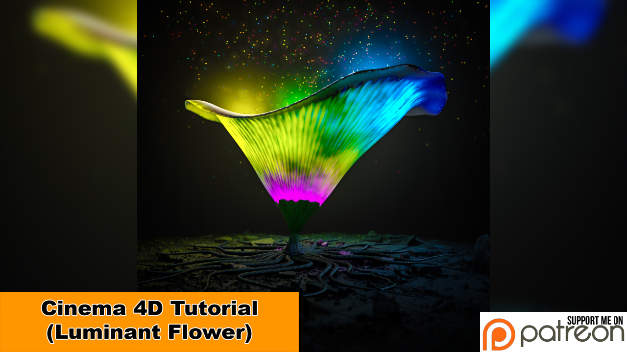 Luminant Flower (Cinema 4D Tutorial) by NIKOMEDIA