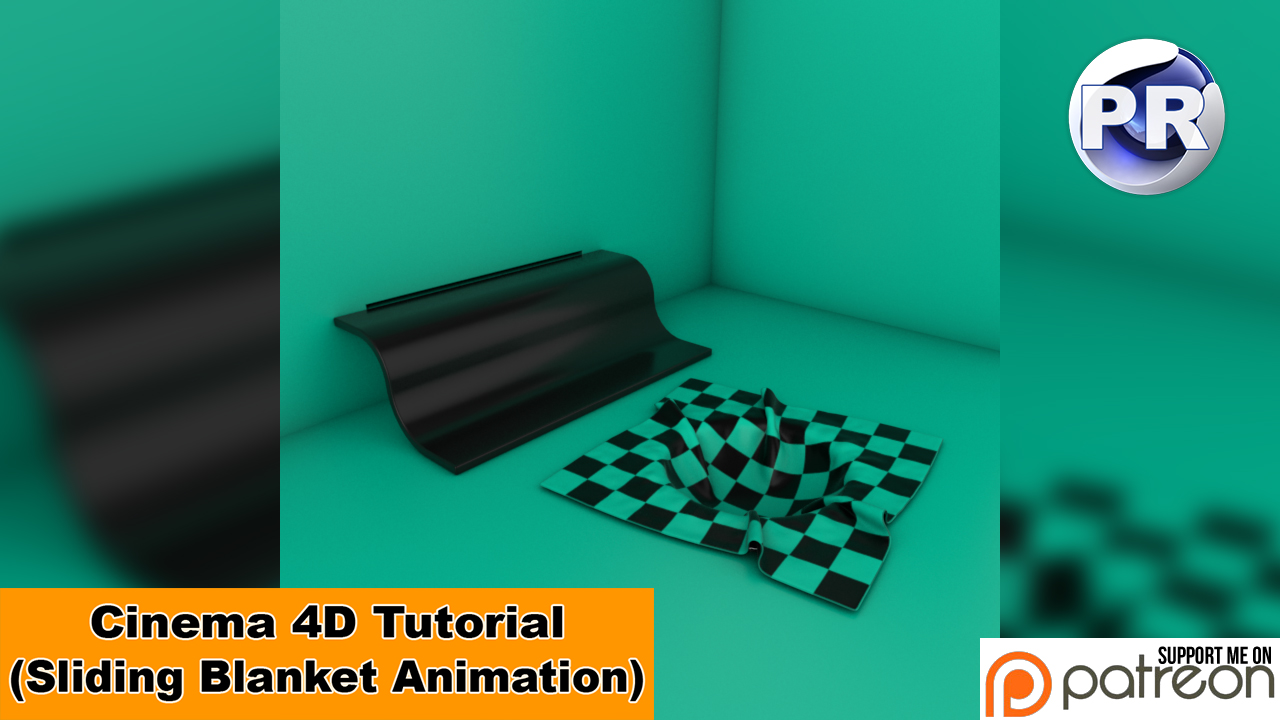 Sliding Blanket Animation (Cinema 4D Tutorial) by NIKOMEDIA
