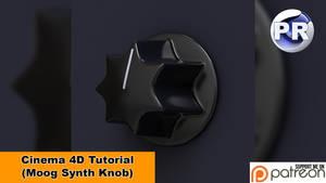 Model a Moog Synth Knob (Cinema 4D Tutorial)