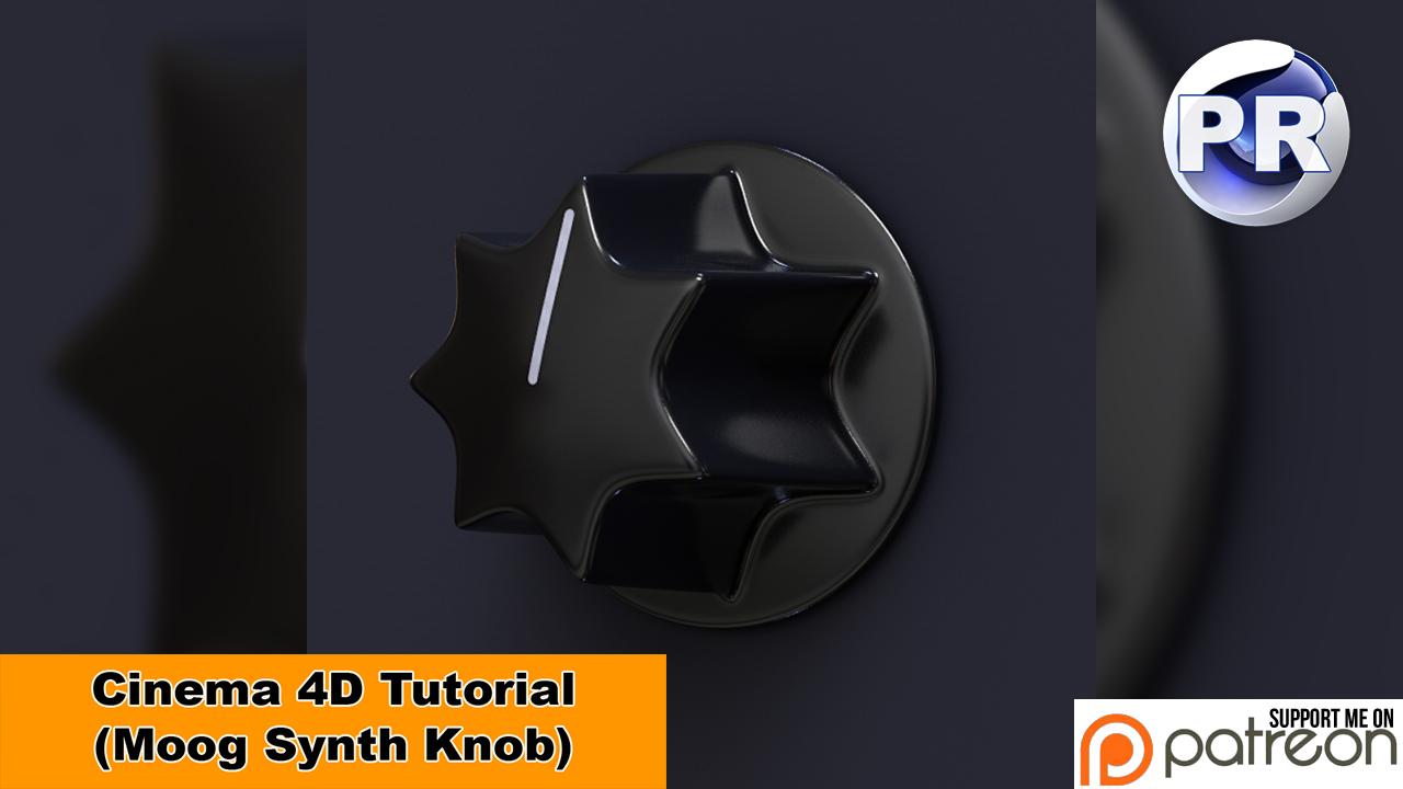 Model a Moog Synth Knob (Cinema 4D Tutorial) by NIKOMEDIA