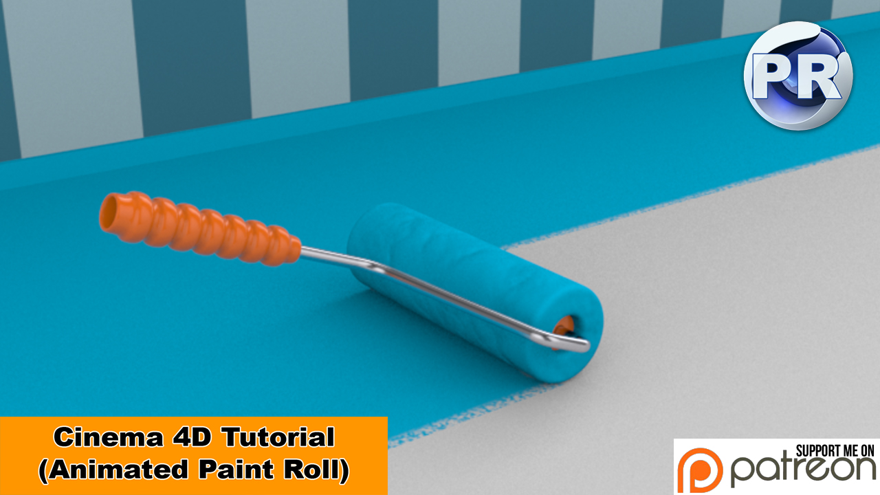 Animated Paint Roll (Cinema 4D Tutorial) by NIKOMEDIA