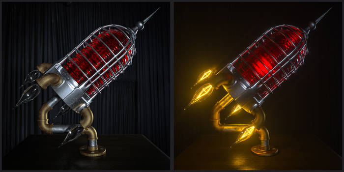 ROCKET LAMP by NIKOMEDIA