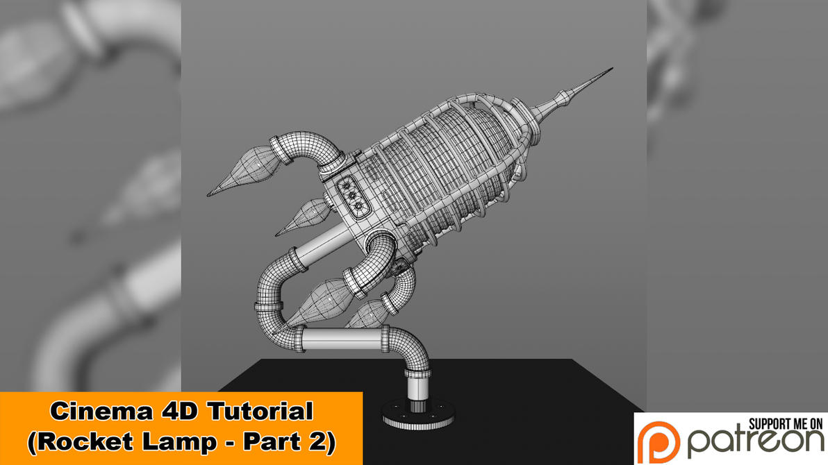Rocket Lamp - Part 2 of 3 (Cinema 4D Tutorial) by NIKOMEDIA
