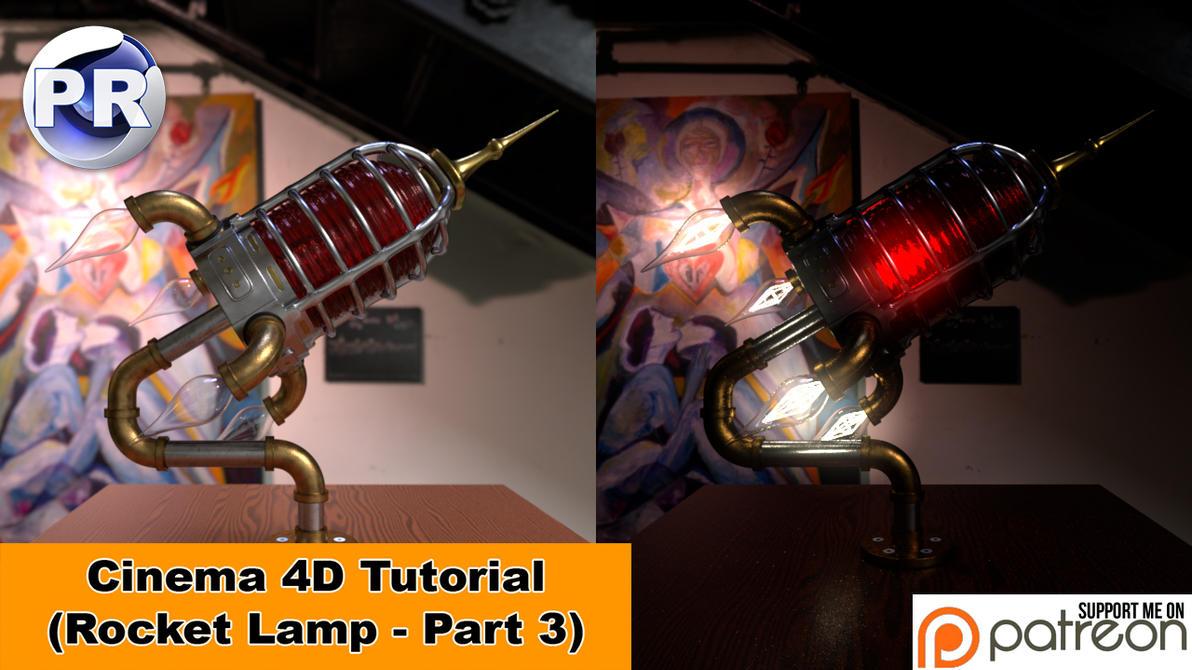 Rocket Lamp - Part 3 of 3 (Cinema 4D Tutorial) by NIKOMEDIA