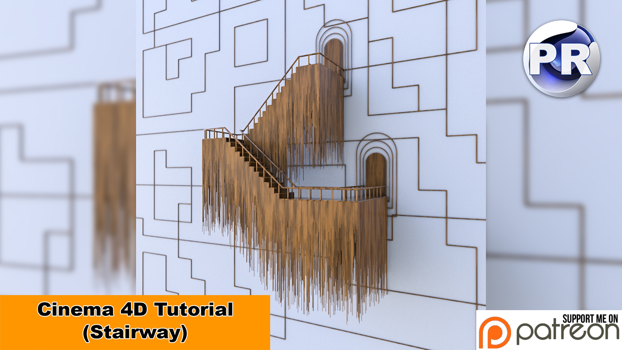Stairway (Cinema 4D Tutorial) by NIKOMEDIA
