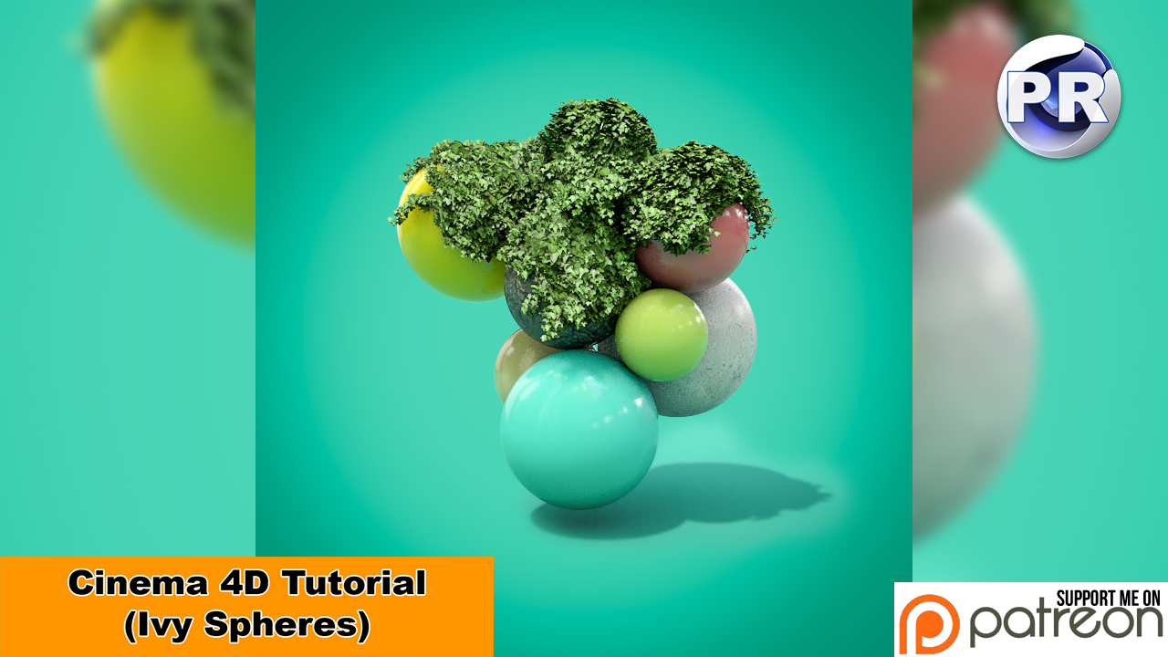 Ivy Spheres (Cinema 4D Tutorial) by NIKOMEDIA