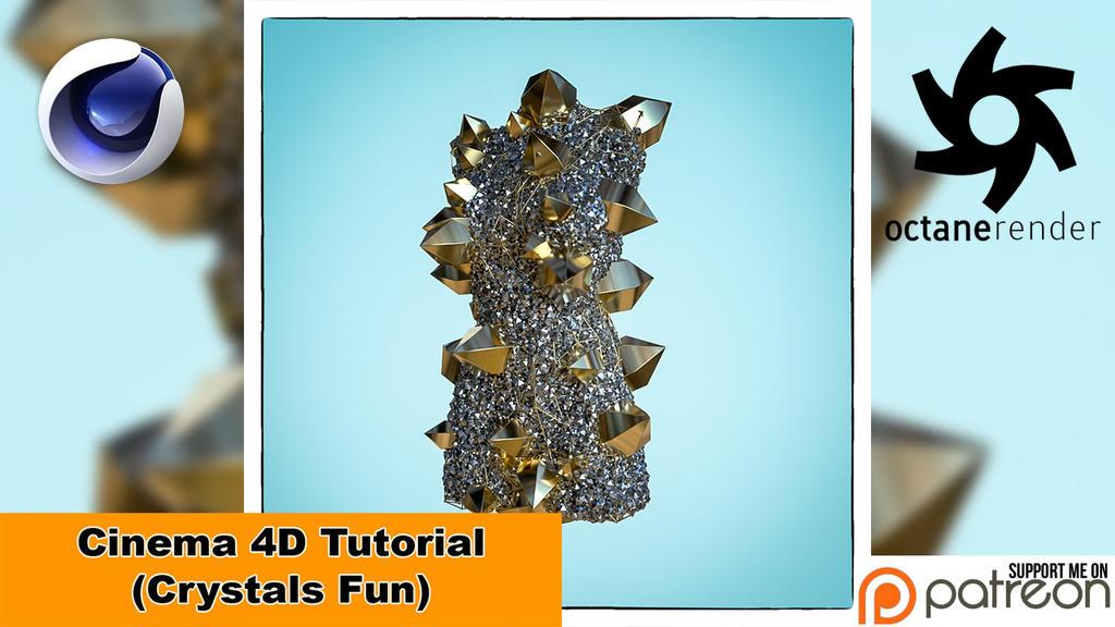 Crystals Fun (Cinema 4D Tutorial) by NIKOMEDIA
