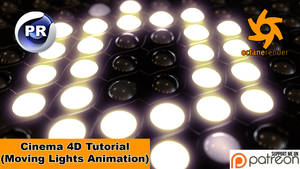 Moving Lights Animation (Cinema 4D Tutorial) by NIKOMEDIA
