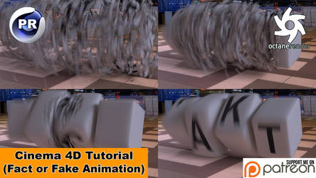 Fakt or Fake Animation (Cinema 4D Tutorial) by NIKOMEDIA