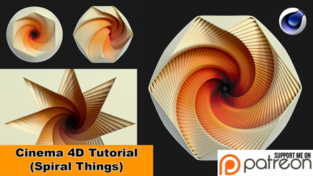 Spiral Things (Cinema 4D Tutorial) by NIKOMEDIA