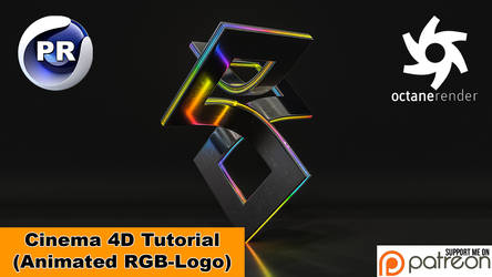 Animated RGB -Logo (Cinema 4D Tutorial) by NIKOMEDIA