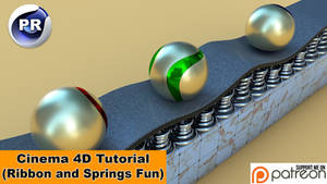 Ribbon and springs fun (Cinema 4D Tutorial) by NIKOMEDIA