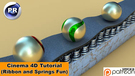 Ribbon and springs fun (Cinema 4D Tutorial) by NIKOMEDIA