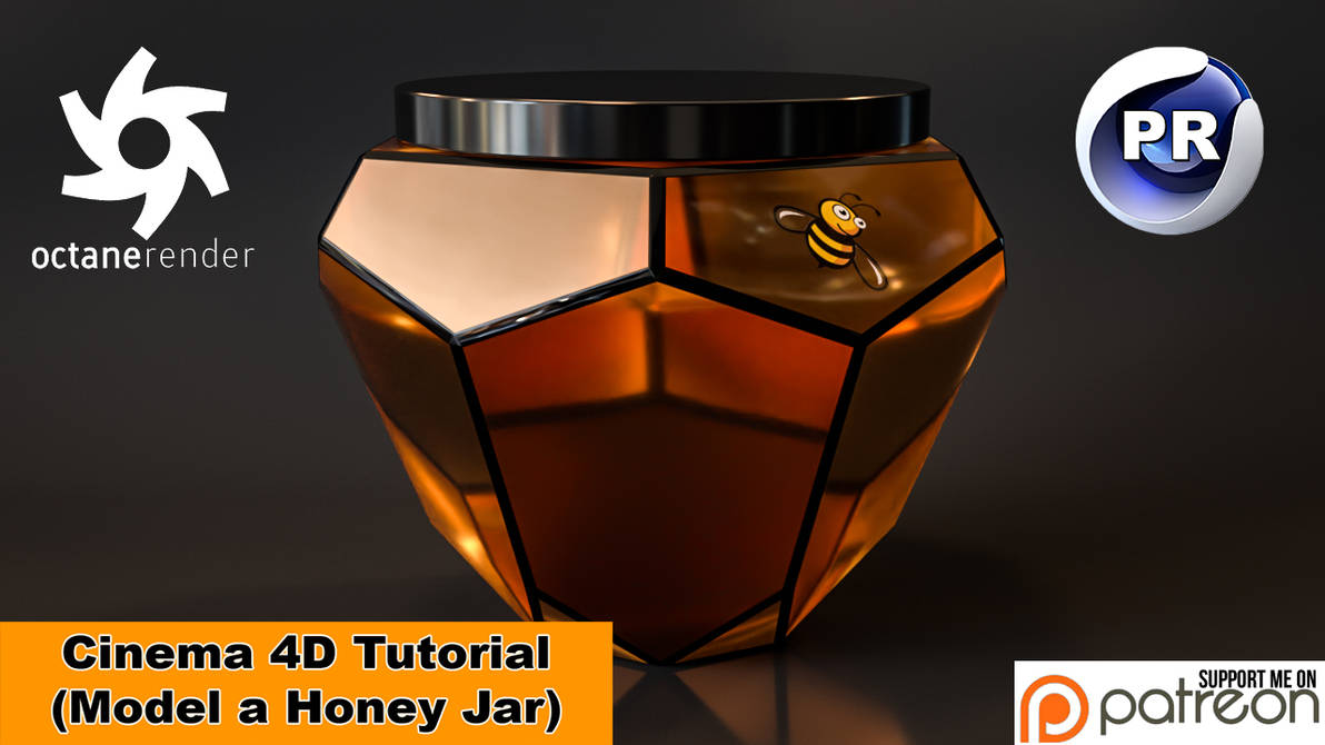 Model a Honey Jar (Cinema 4D Tutorial) by NIKOMEDIA