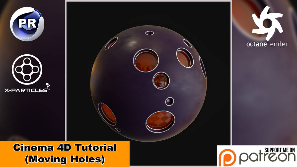 Moving Holes (Cinema 4D Tutorial) by NIKOMEDIA