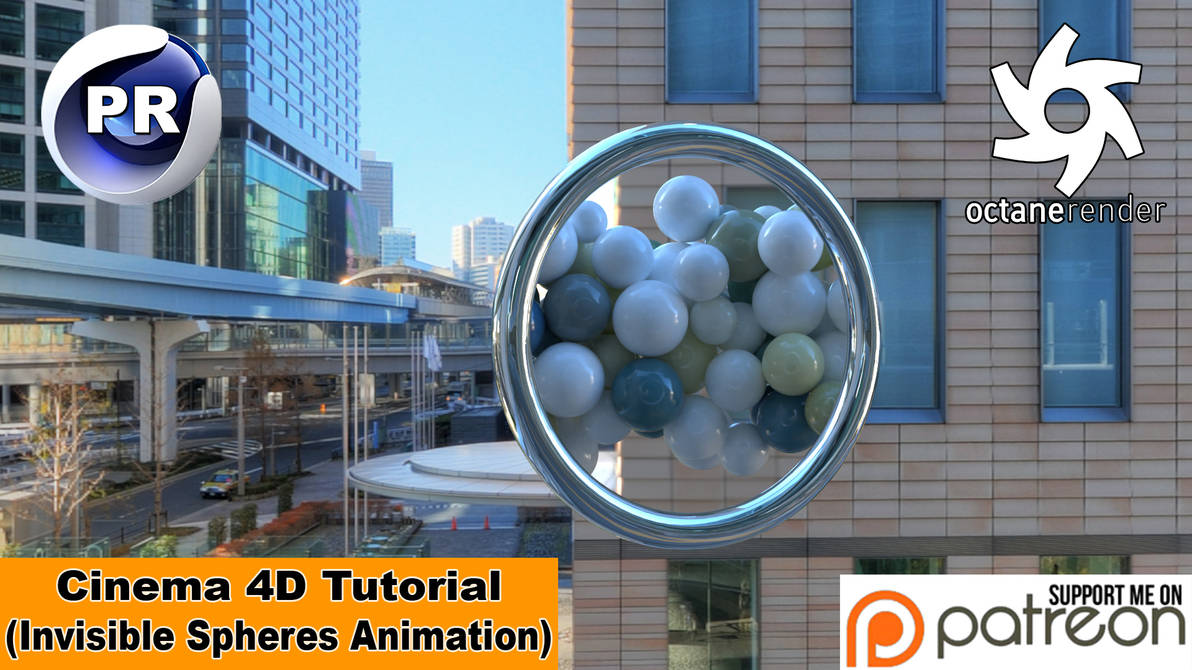 Invisible Spheres Animation (Cinema 4D Tutorial) by NIKOMEDIA