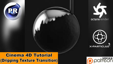 Dripping Texture Transition (Cinema 4D Tutorial)
