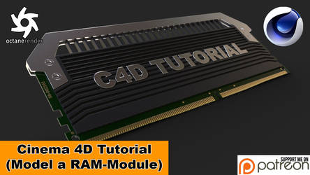 Model a RAM-Module (Cinema 4D Tutorial)