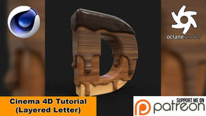 LAYERED LETTER (Cinema 4D Tutorial)