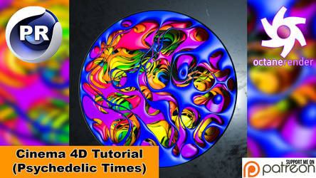 PSYCHEDELIC TIMES (Cinema 4D Tutorial)