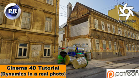 DYNAMICS IN A REAL PHOTO (Cinema 4D Tutorial)