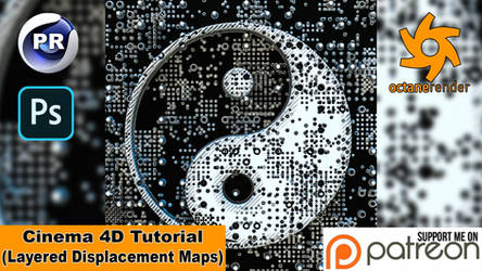 LAYERED DISPLACEMENT MAPS (Cinema 4D Tutorial)