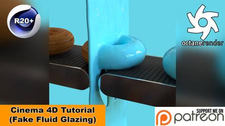 FAKE FLUID GLAZING LOOP (Cinema 4D Tutorial) by NIKOMEDIA
