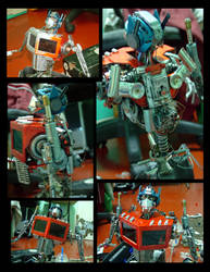 Optimus Prime junk art