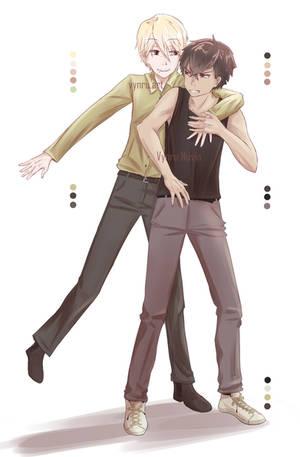 Redraw - Naoki and Hiroshi by Vynru