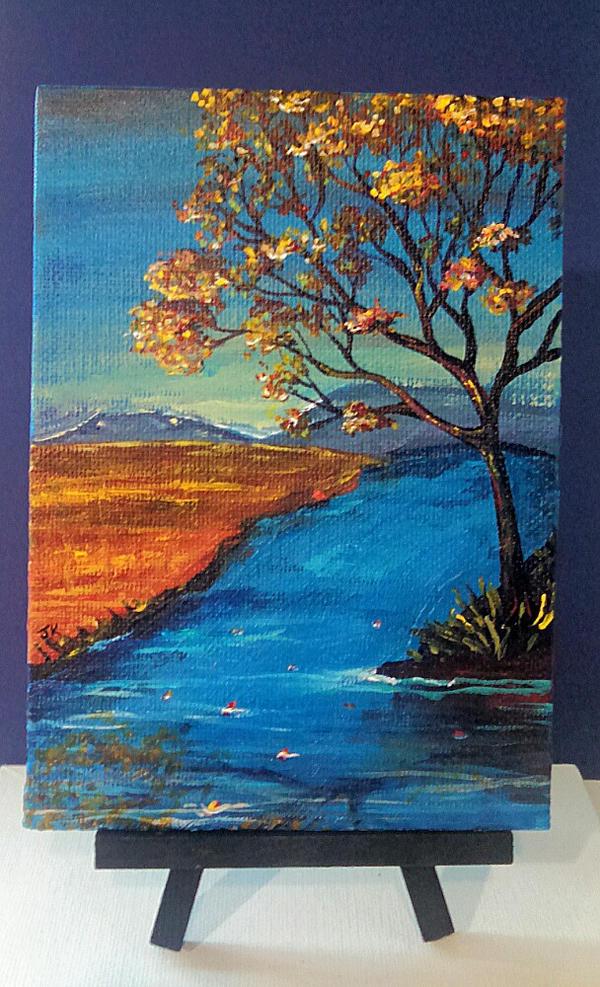 Something Blue and Orange by artJMOB