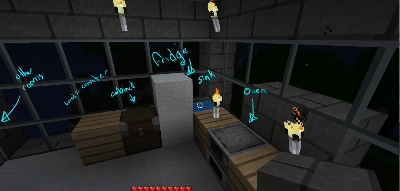 Minecraft kitchen by kalimaru on deviantart for Kitchen ideas minecraft