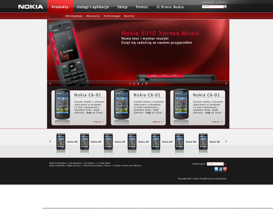 nokia web design by el heat d38mdho Web Interface Roundup of Web Design Inspiration