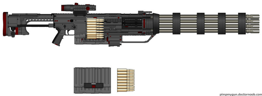 G.A.U.-99 M.P. Mini-Gun by Lord-DracoDraconis