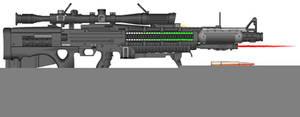 Arkeon 9500-X Railgun by Lord-DracoDraconis