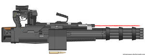 G.A.U.-1000X Gatling Gun by Lord-DracoDraconis
