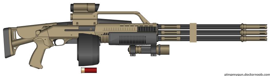 D.I.I. 'Kraken' 959-G.S. Shotgun by Lord-DracoDraconis