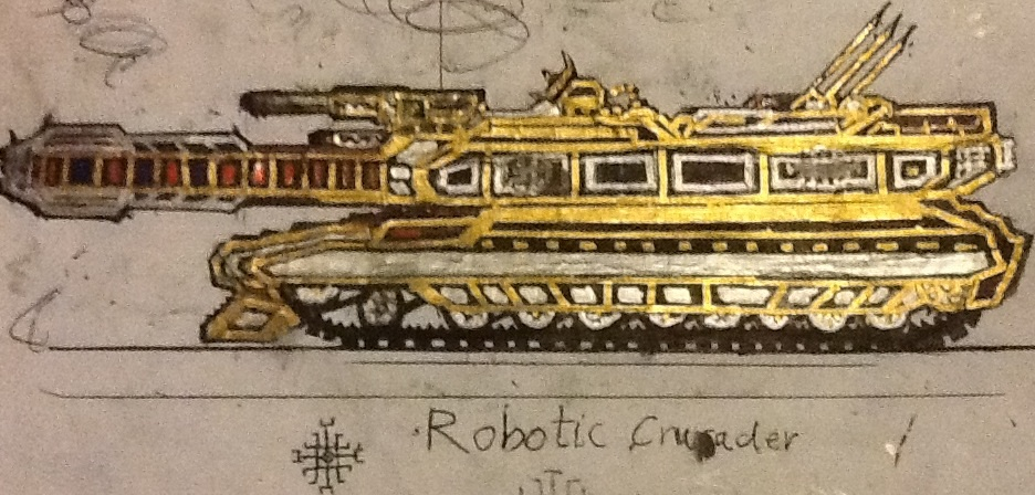 Gen. Ironhand's Robotic Crusader Tank by Lord-DracoDraconis