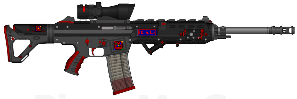 DII-DSC SCR-45H 'Tsunami' Superior Combat Rifle by Lord-DracoDraconis