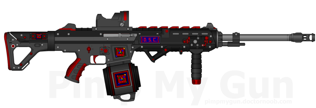 DII-DSC SCR-45LSW 'Tsunami' w/ Double Drum Mag by Lord-DracoDraconis